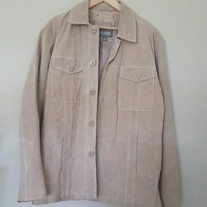 Suede Tan Wilsons Leather Mens Jacket Large